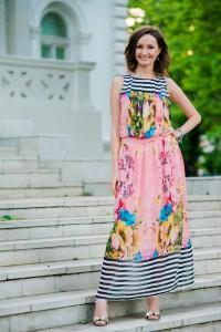Женское летнее шифоновое розовое