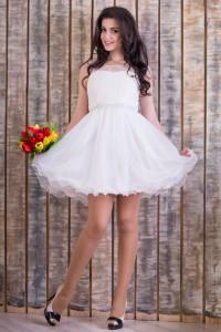 Платье под заказ № 5050 Белый