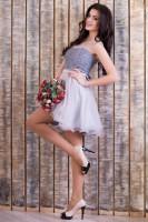 Купить нарядное серое платье Киев Украина